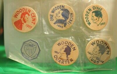 1965 Wooden Nickel Mint Set Economy Coin Club