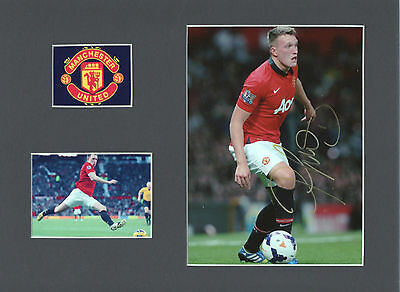 PHIL JONES Signed 10x8 Photo Display MANCHESTER UTD & ENGLAND COA
