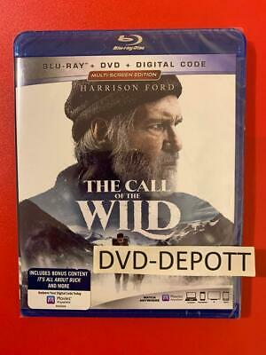 The Call Of The Wild Blu-ray + DVD + DIGITAL HD Brand New FAST Free Shipping