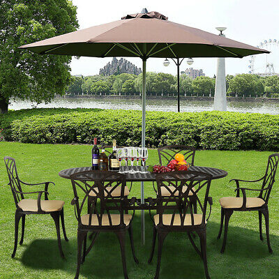 Cast Aluminium Garden Furniture Set Patio Table and Chairs Bistro Outdoor New