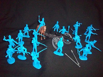 Classic Toy Soldiers Alamo Mexican/Napoleonics Infantry & Artillery  (54MM) BLUE