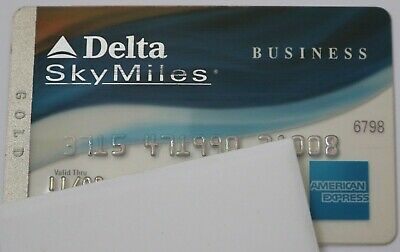 Expired in 11/2009 American Express Delta Gold Business Credit Card Bank Used