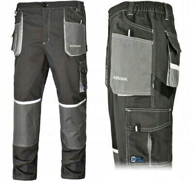 Work Trousers Mens Cargo Combat Heavy Knee pads pockets euro classic