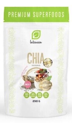 Certified Organic Raw Chia Seeds - Omega 3, Weight Loss, Detox, Diet -250g