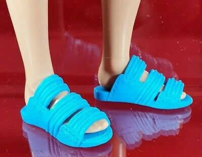 Barbie Fashionista Ken Blue Strap Slippers Sandals Shoes Doll Accessory
