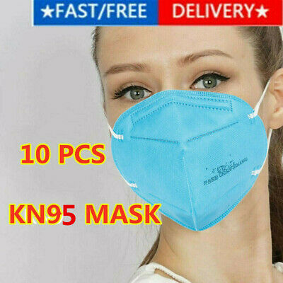 5/10 Pieces KN95 Face Mask Mouth Cover Disposable Masks Respirator BLUE