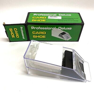 Deluxe 4 Deck Playing Card Dealing Shoe Case Casino Poker Dealer Game Accessory