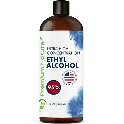 95% Ethyl Alcohol Ideal for Sanitizing Surface Cleaning 16 OZ