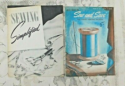 Two Vintage 1940'S Sewing How To Soft Back Books