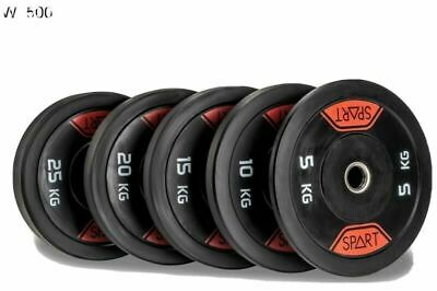SPART Olympic Black Rubber Bumper Plates / Weighted Plates /Lifting Accessories