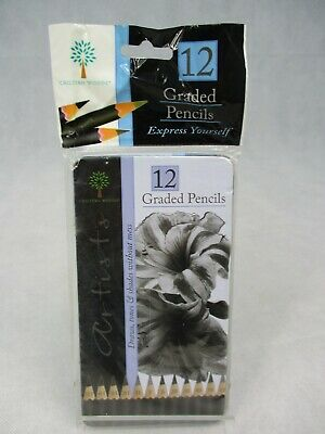 Chiltern Woods Artists 12 Graded Pencils Draws Tones & Shades in Tin Pack