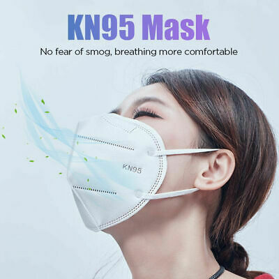 10 Pack KN95 Disposable Face Mask Cover Folding Respirators Protective KN-95