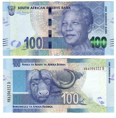 UNC SOUTH AFRICA 100 Rand (2013) ND Gill Signature P-141a Banknotes Paper Money