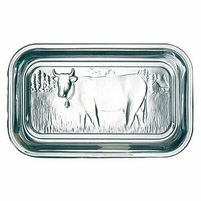 Luminarc Arc International Clear Glass Butter Dish Dairy Cow on Pasture Country