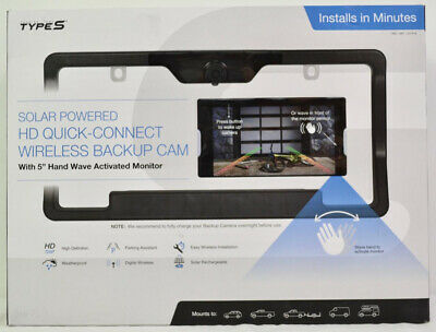 Type S Solar Powered HD Quick-Connect Wireless Backup Camera
