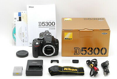 【Mint in Box】Nikon D5300 Digital SLR Camera Black Body Only From Japan #497