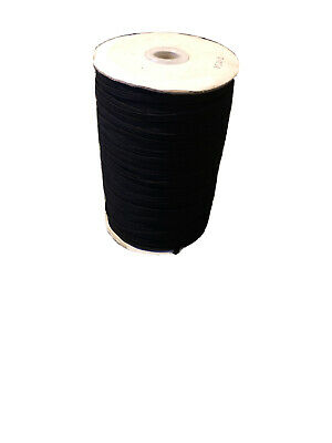 10 Meters 4 Cord Black Elastic - Ideal For Face Masks - Free Postage