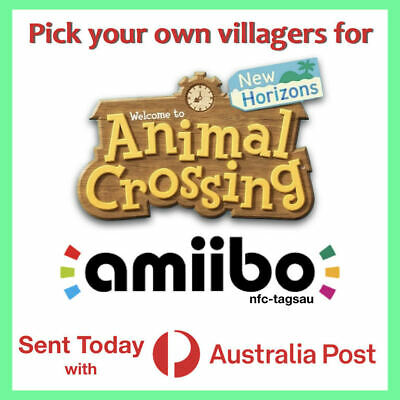 IN STOCK Any Animal Crossing New Horizons Amiibo Card NFC NTAG215 (Free Postage)