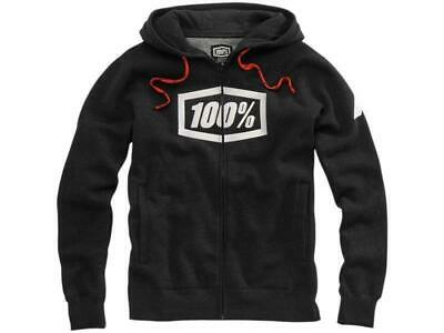 100% Kaputzenjacke Zip-Hoody Syndicate Black Heather Größe M Motocross