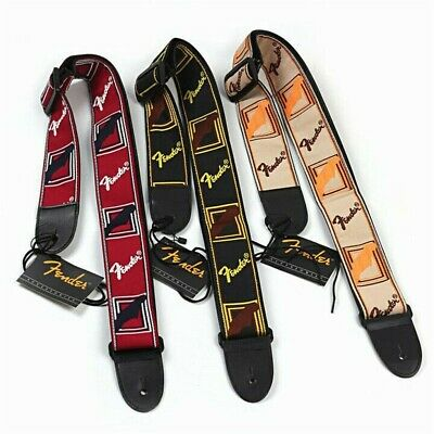 Embroidered Guitar Strap Fender Straps for Electric Guitar Acoustic Ukulele Bass