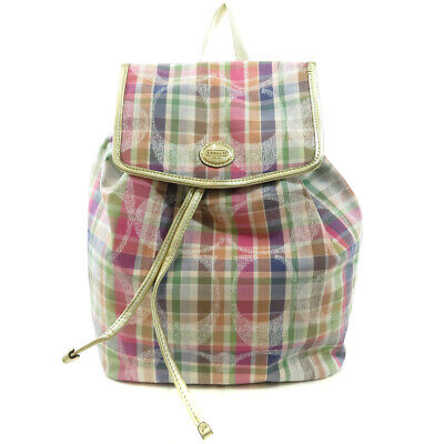 COACH  F77342 Backpack · Daypack Signature Check Canvas