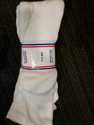 3 Pair Knee High White Physician's Choice Over The Calf Diabetic Socks 10-13