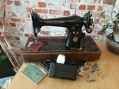 Singer 201k electric sewing machine leather new electrics pat tested