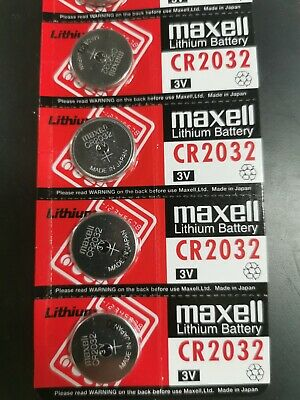 CR2032 3V Maxell Lithium Batteries Box of 100 Calculator Watch Toys Battery 2032
