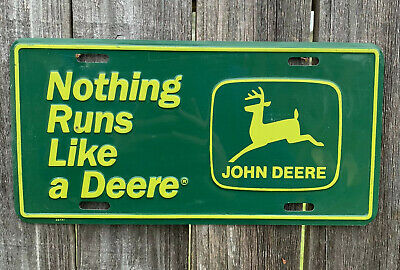 Rare John Deer License Plate. Nothing Runs Like A Deer. Collectable.