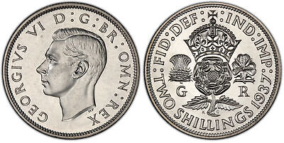 GREAT BRITAIN George VI1937 AR Florin, Two Shillings. PCGS PR66 SCBC-4081