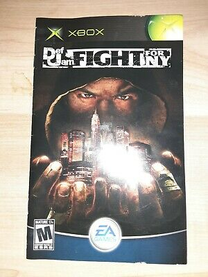 XBOX Def Jam Fight For NY manual only