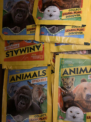 Topps National Geographic Kids Animals  50 Sealed Packets