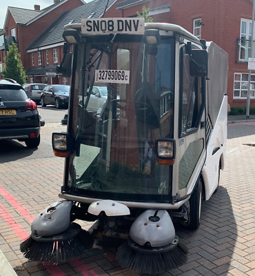 Green Machines 636HS Road path sweeper 2008 leaf collector vacuum jet washer