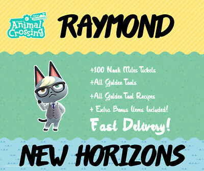 Get Raymond | For Animal Crossing New Horizons | Acnh | Same Day Collection!