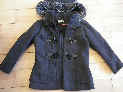 Girl clothes, Coat, Jacket with hood, Gray, F&F, 3-4 years (443)