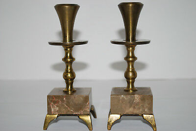 Brass & Stone Candle Stick Holders Made in Israel