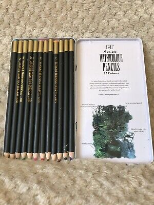 151 Artists Watercolour Pencils 12 Colours Craft Quality very light use.