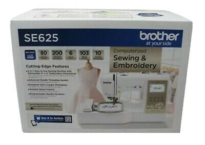 Brother SE625 Computerized Sewing and Embroidery Machine Brand New