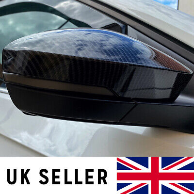 Volkswagen T-Cross Carbon Fibre Mirror Covers (Hydrodipped Replacements)