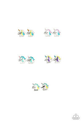 Paparazzi Starlet Shimmer Unicorn MultiColor Earrings Set of 5 ~ *NEW RELEASE*