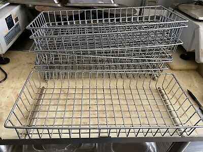 "Set of 7 Rectangle 20"" x 9"" Commercial Bakery Baking Wire Heavy Duty Baskets"