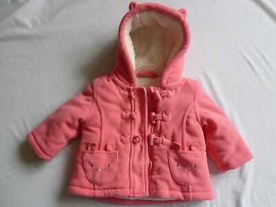 Girls Childs Coat Jacket With Hood Pink Age 3-6 Months Bluezoo