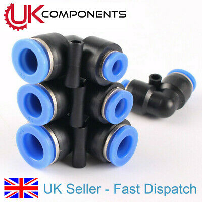 90° Eblow Pneumatic Hose Tube Reducing Connector Fittings Push to Connect 6-12mm