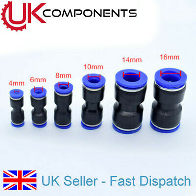 Equal Dia 4/5/6/8/10/12/14/16mm Straight Pneumatic Connector Fittings Adapter