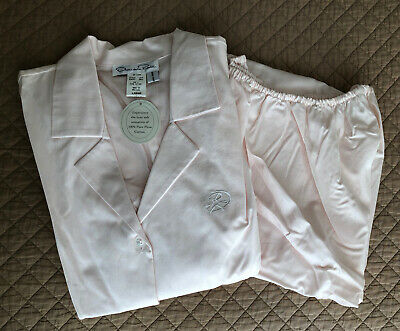 OSCAR DE LA RENTA Saks Fifth Avenue 100% Pima Cotton Pajamas Women's Size L NWT!