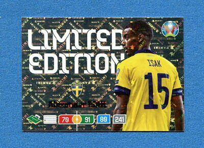 EURO 2020 -Adrenalyn Panini- Card LIMITED EDITION - ISAK - SWEDEN