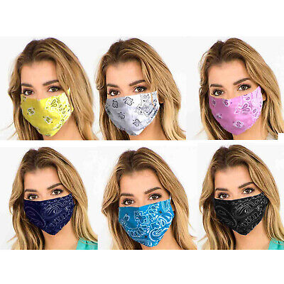 Face Mask Unisex Mens Womens Protective Fabric Mouth Nose Protection Mask