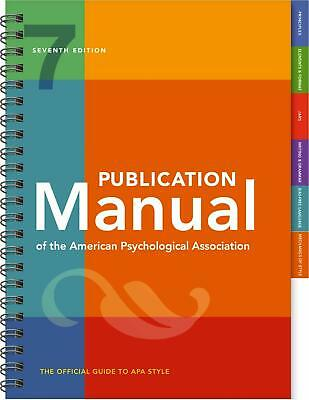 Publication Manual Of The American Psychological 7th 2020 (P.D.F) Full version