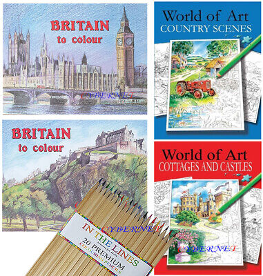 BRITAIN TO COLOUR MIND RELAXING ADULT Stress Relief COLOURING BOOK BOOKS