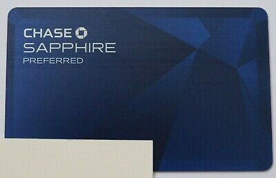 Expired Chase Sapphire Preferred Visa Signature Metal Blue Card USA